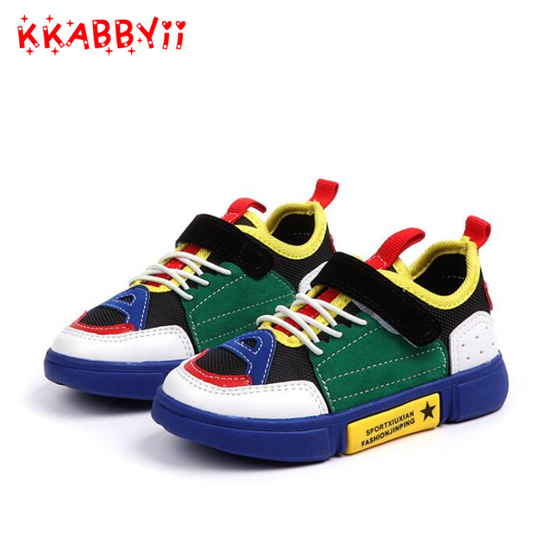Children Sneakers New Autumn Mesh Breathable Kids Sports Shoes For Girl Boy Brand Causal Shoes Boys Sneakers EU 26-36 ...