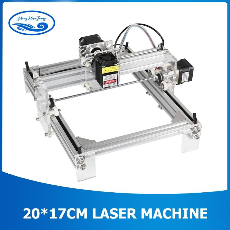 Zone de travail 20 cm x 17 cm, 500 mw/2500 mw/5500 mw CNC de bureau bricolage Violet Laser Machine de gravure image CNC bois routeur imprimante