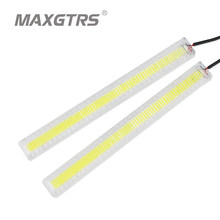 2x 17cm Car COB LED DRL Daytime Running Light Source Head Lamp White Waterproof Fog Lamps With Protection Car Styling(China)