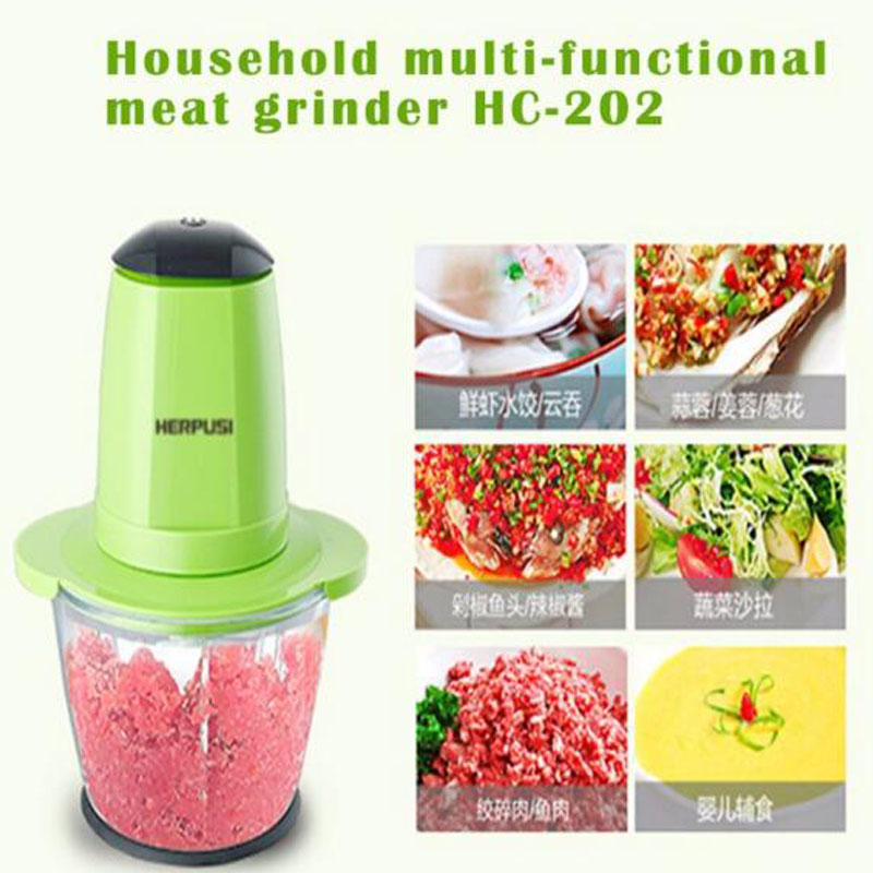1pc Household Electric Meat Grinder Multi-Function Small Side Dish Blender Food Mixing Meat Grinders HC-202 multi function electric stainless steel household commercial food meat grinder 220v
