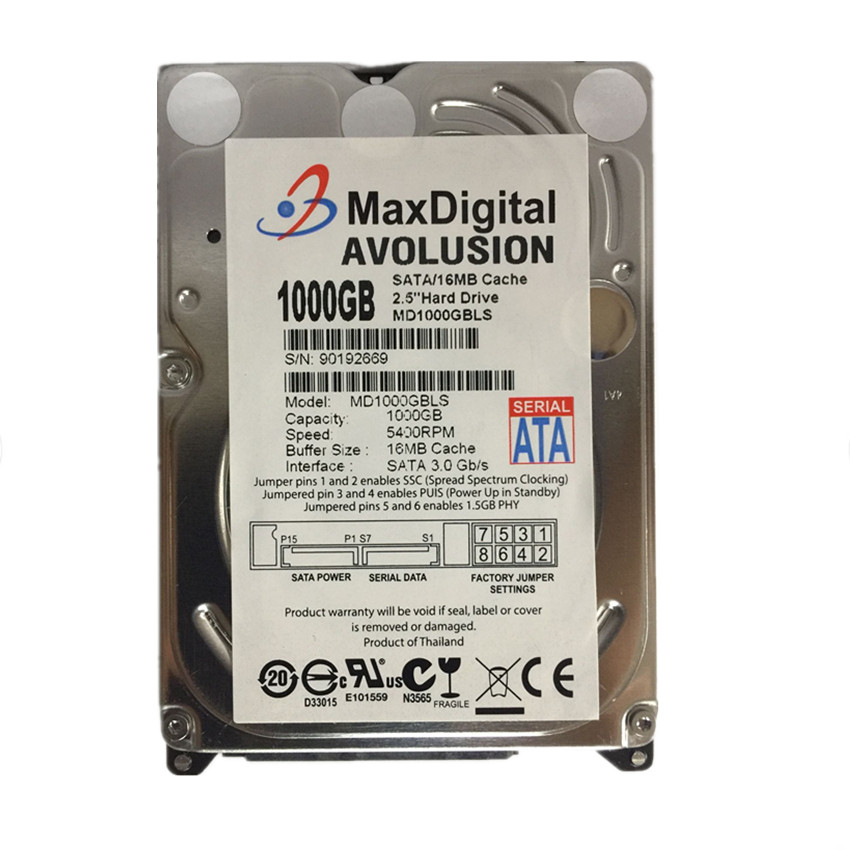1TB 2.5inch 15mm Height SATA Hard Drive 5400RPM for PC Tower/Server/Mini-ITX/Desktop/Machine Warranty for 1-year hard drive x274a 146g 10k fc x274 3 5 scsi one year warranty