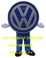 Автомобиль логотип талисман костюм Взрослый размер оптовая продажа пользовательские коммерческие рекламные костюмы ходячие куклы выполн