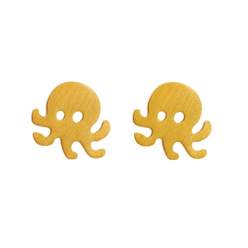 HipHop Octopus Earrings Fashion Cute Stud Earring Modern Creative Jewelry Accessories For Women Pendientes Oorbellen