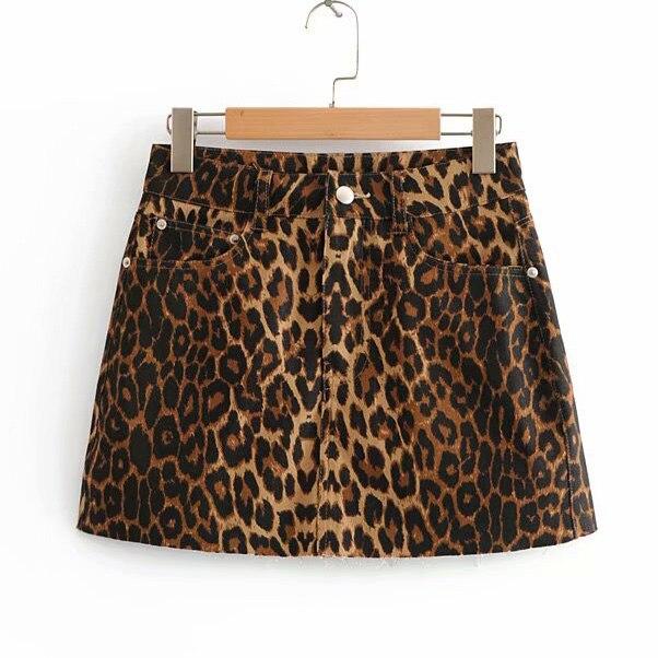Leopardo Curto Mini Saia Das Mulheres Plus Size Do Vintage Acima Do Joelho Saias Faldas Mujer Jupe Femme Moda