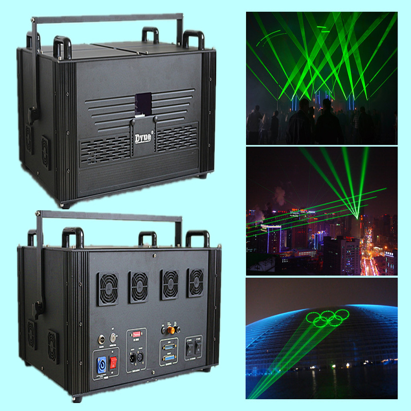 10W 15W 20W 532nm Landmark Laser Light  Single Green Laser Light Show Equipment For Outdoor Laser Advertising Laser Projection