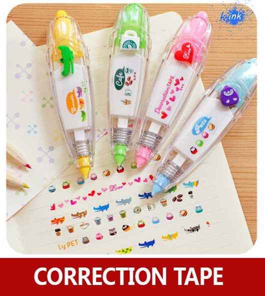 Cute Cartoon Correction Tape , Colorful Lace Decoration Correction Tape For Kids To Correct Mistake In School
