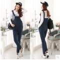 2017 spring summer European fashion women jumpsuit denim female blue casual jeans jumpsuits for lady wear Freeshipping