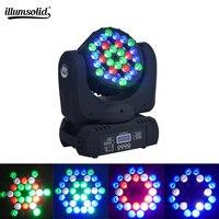 Projekt LED 36x3 w wiązki ruchome głowy RGB DMX etap światła efekt mycia oświetlenie imprezowe dla DJ w Oświetlenie sceniczne od Lampy i oświetlenie na