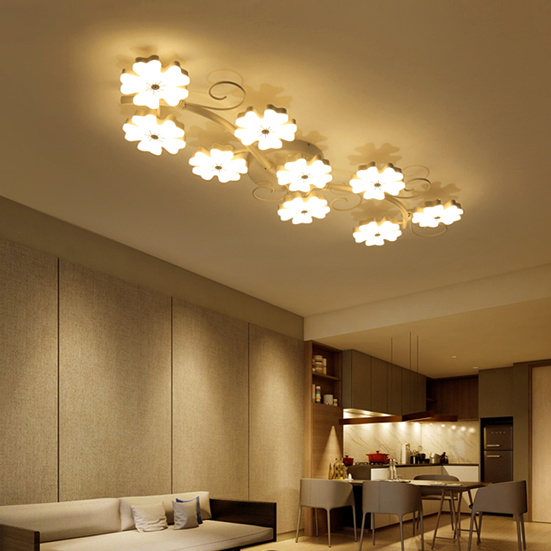 Modern Brief Plum Blossom Led Ceiling Lights For Living