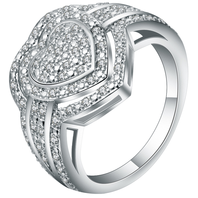 US $3 39 |Exquisite Full White Crystal Lord Of Heart Ring Jewelry Meaning  Love Forever Women's Wedding Bands Ring For Lovers Bijoux Gifts-in