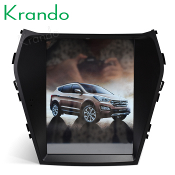 "Krando  Android 8.1 10.4"" Tesla Vertical car multimedia player GPS for Hyundai IX45/Santa Fe 2013+ navigation system radio BT"