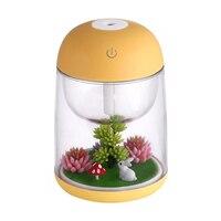 Micro paisagem umidificador de ar para casa do bebê escritório presente criativo difusor de aroma de óleo essencial com mudança de luz led|Umidificadores| |  -