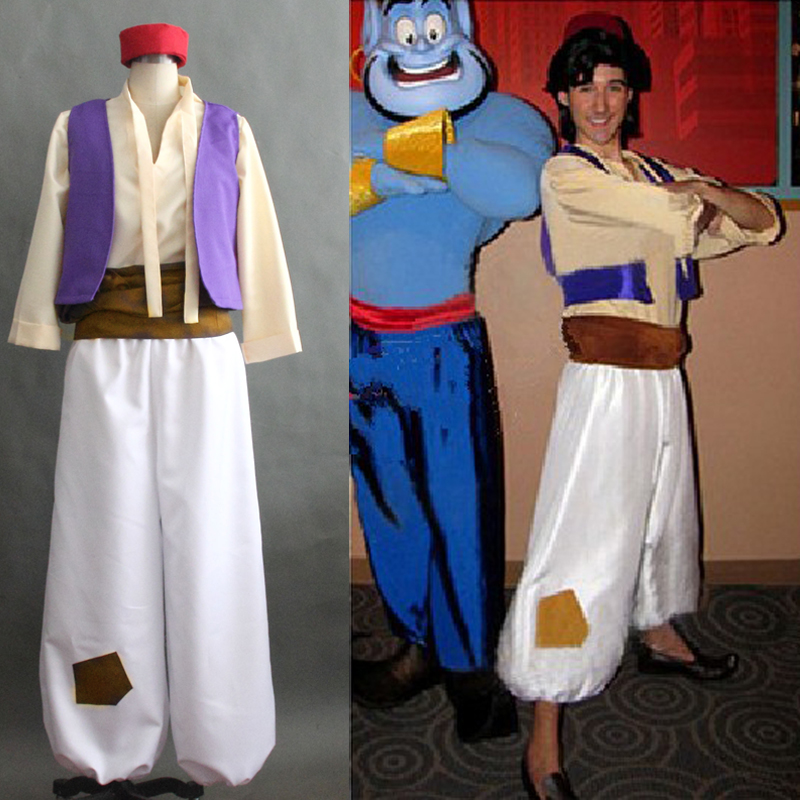 Aladin Cosplay Costume Adult Halloween Costume for men Aladin Costumes full set