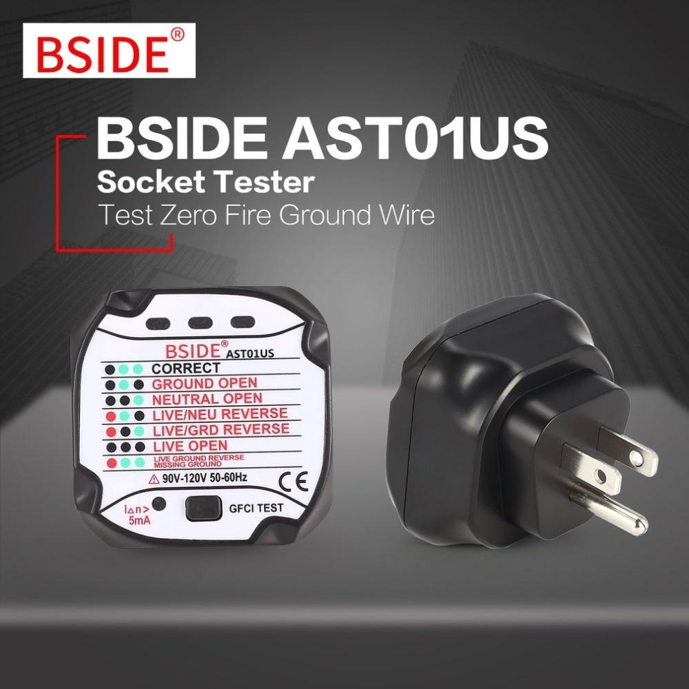 BSIDE AST01US Socket Outlet Tester US Plug Circuit Polarity Voltage ...