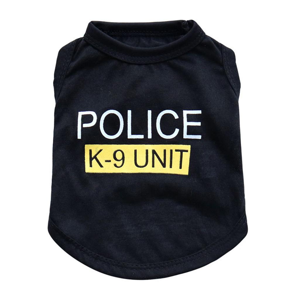 New Small Dog Vest Puppy Police Letters T Shirt Summer font b Pet b font Clothes