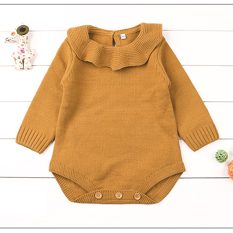 Baby Girl Clothes Spring Baby Rompers Warm Baby Sweater Long Sleeve Newborn Baby Clothes Solid Infant Jumpsuits Cute Roupas Bebe newborn baby rompers baby clothing 100% cotton infant jumpsuit ropa bebe long sleeve girl boys rompers costumes baby romper