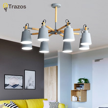 Modern led Chandelier for Kitchen Dining Room Living Room Suspension luminaire Hanging Pink Blue Bedroom Chandeliers Fixtures(China)