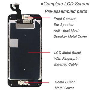 Image 3 - قطع غيار كاملة لشاشة آيفون 6S 6S plus شاشة الكريستال السائل ، محول الأرقام بشاشة تعمل بلمس الاستبدال ، مع مكبر صوت الكاميرا الأمامية زر المنزل