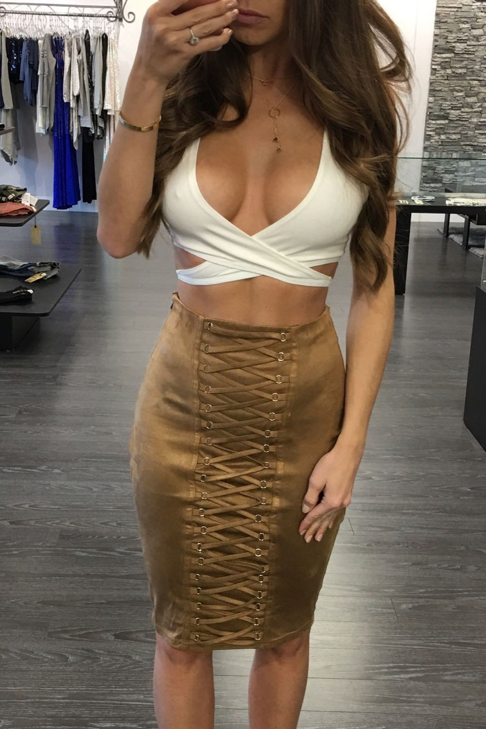 Brown-Lace-Up-Eyelet-Faux-Suede-Midi-Skirt-LC65027-17-4