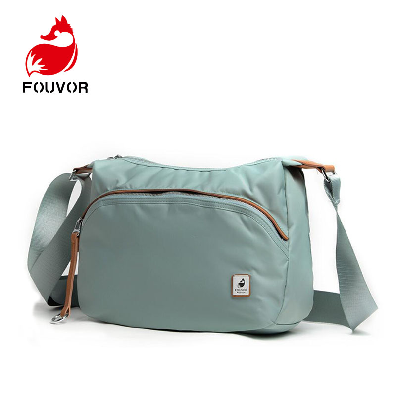 Fouvor Ladies Handbag Messenger-Bags Crossbody Casual Clutch Hobos Nylon Vintage Female