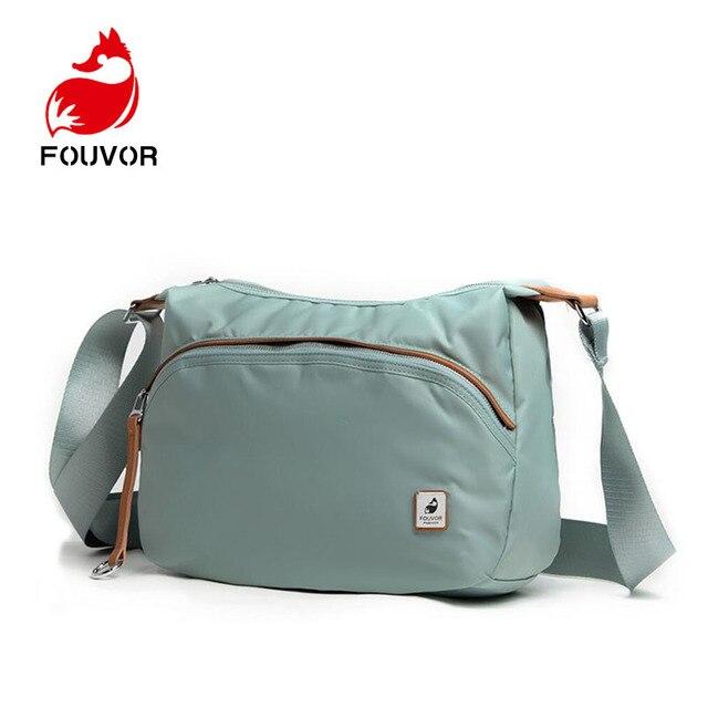f4e395bb8 Fouvor de Nylon impermeable, bolsas de mensajero para mujeres, embrague  carteras Vintage vagabundos señoras