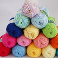 New 20 colors Soft Bamboo Crochet Cotton 50g Knitted Yarn DIY Hand Knitting Yarn Baby Dyed Blended yarn