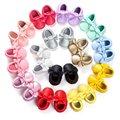 Borlas de La Manera hecha a mano Inferior Suave Bebé Mocasín Zapatos de Los Bebés Recién Nacidos 18-colors pu Prewalkers Botas