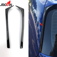 Piano Black For VW GOLF 7 7.5 MK7 MK7.5 R GTE GTD 2013 2018 Car Back Rear Window Side Spoiler Wing Cover Trim Not For GTI