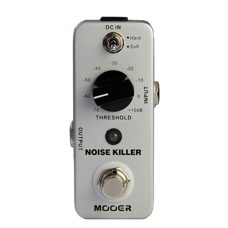 MOOER Noise Killer Noise Reduction Pedal 2 Working Modes: Hard/Soft True bypass mooer ensemble queen bass chorus effect pedal mini guitar effects true bypass with free connector and footswitch topper