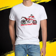 KODASKIN Motorcycle Style 100% Cotton for DUCATI MULTISTRADA 1200 Casual Short Sleeve O-Neck T Shirt