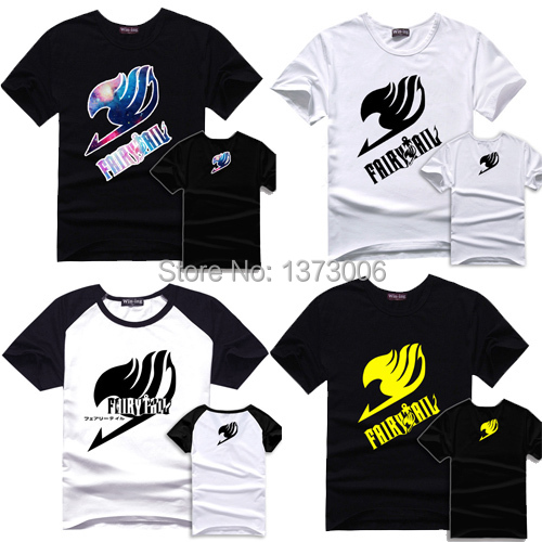 Fairy Tail Футболка Хлопок Футболки Аниме Мужчины Ребенок Футболка Tee S-XXL Fairytail Логотип