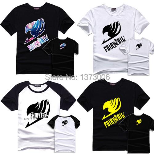 Fairy Tail T-Shirt T Camisas de Algodão Logotipo Fairytail Anime Homens Tshirt da Criança S-XXL