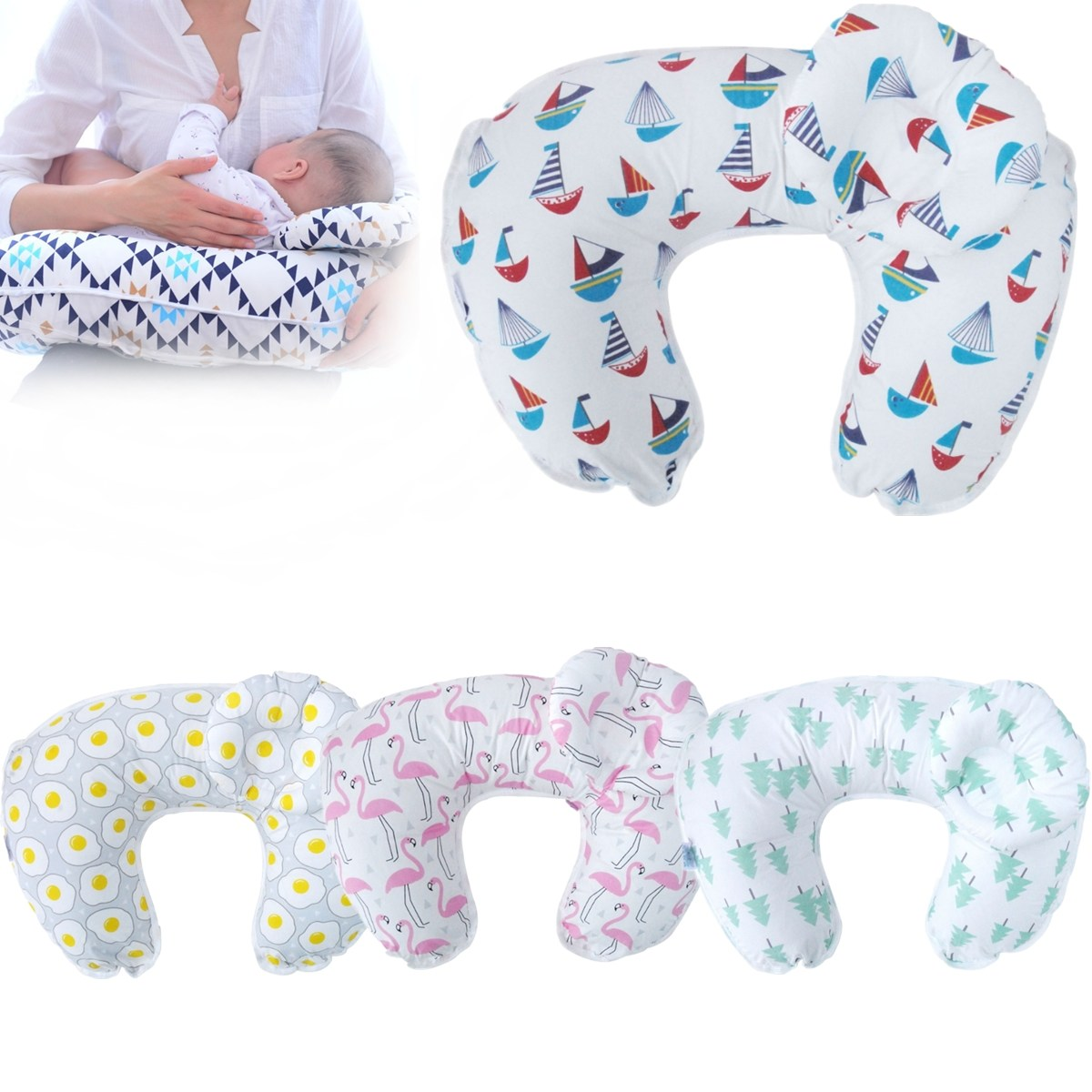Kids U-Shaped Baby Maternity Breastfeeding Nursing Pillow Breast Feed Cushion Support Detachable Pillow Bedding Supplies