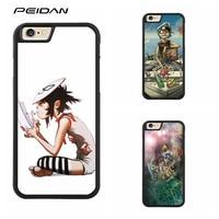 PEIDAN Gorillaz Full Protective cover cell phone case for iphone X 4 4s 5 5s 6 6s 7 8 6 plus 6s plus 7 plus 8 plus #qq154
