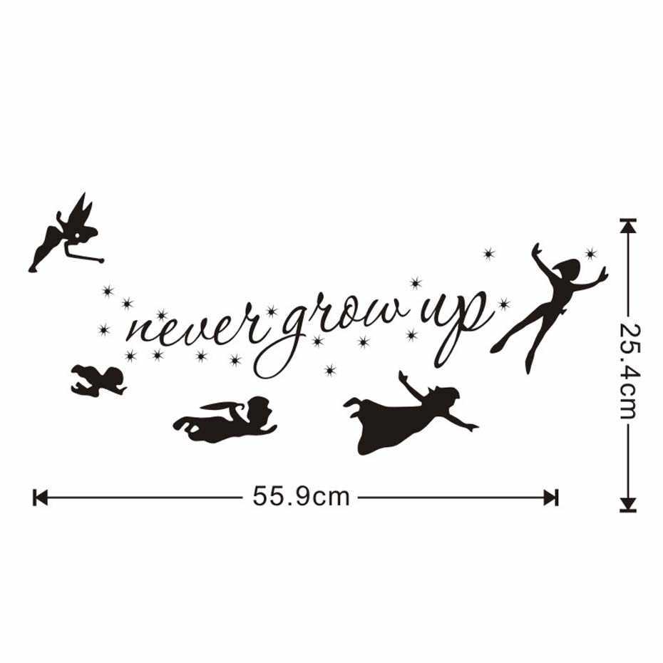 0f40e54afca1 ... Cartoon Figure Of The Peter Pan Never Grow Up Wall Stickers Funny And  Creative Decals For