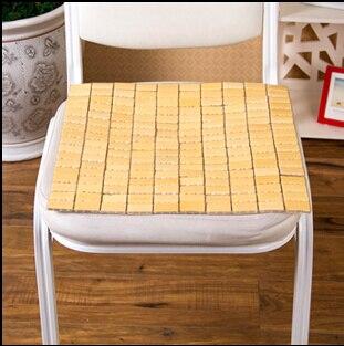 Natural recyclable universal car seat bamboo mat sofa cushion bamboo block seat cushion chair pad Summer cool bamboo mat