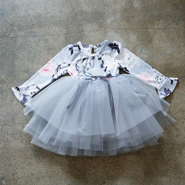 Winter Baby Girl Party Dresses For Girls Frock Infant Tulle Costume For Kids Clothes Children -4154
