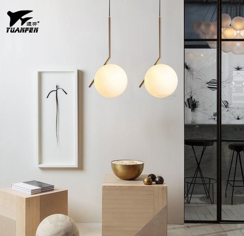 Modernen Minimalistischen Pendelleuchte Lampe Nordic Decke Kleidung Dekoration Glas Ball Fr Wohnzimmer Schlafzimmer Esszimmer