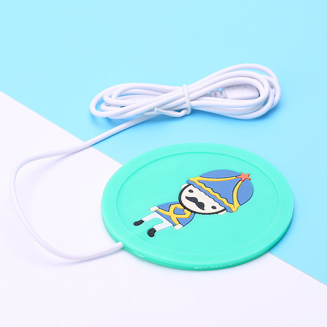 Portable USB Office Gadgets Heating Coaster Insulation Electric Coaster USB Gadget Insulation Mat Heating Pad Cup For Home 2