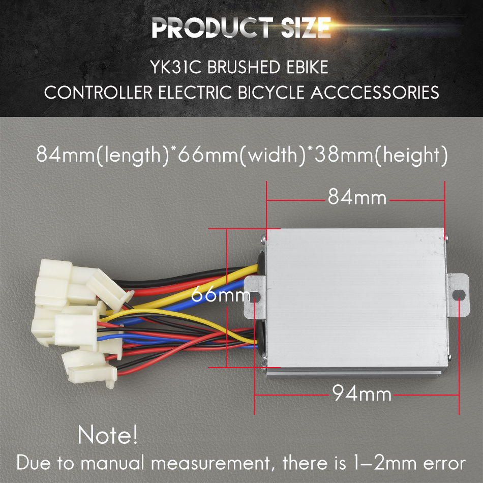24v Diagram Wiring Yk31c Wire Center Electric Bike Battery 500w 36v 48v Yiyun Brushed Ebike Controller E Scooter Rh Aliexpress Com Charger Circuit Of Engine