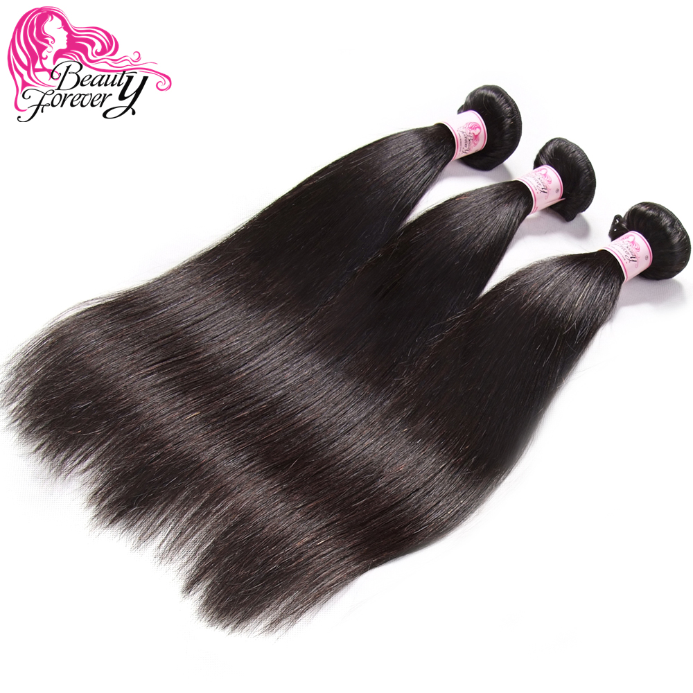 BEAUTY FOREVER 3 Bundles Straight Peruvian Hair Weaves 100 Remy Human Hair Weft 8 30inch Natual