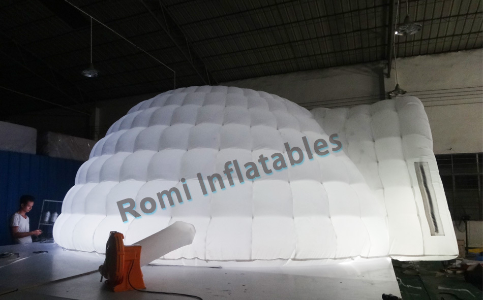 Color changing LED lighted inflatable dome tent igloo tent LED inflatable tent with LED-in Toy Tents from Toys u0026 Hobbies on Aliexpress.com | Alibaba Group & Color changing LED lighted inflatable dome tent igloo tent LED ...