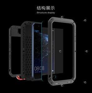 Image 2 - Huawei P30 P40 Pro P20 lite P10 Mate 30 Pro 20 10 Nova 4e 3e 4 durumda aşk MEI metal zırh alüminyum silikon su geçirmez kılıf