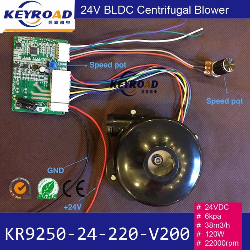 Mini 24 V 1000LPM 6kPa 24000 rpm Potężny wentylator Niski poziom - Elektronarzędzia - Zdjęcie 6