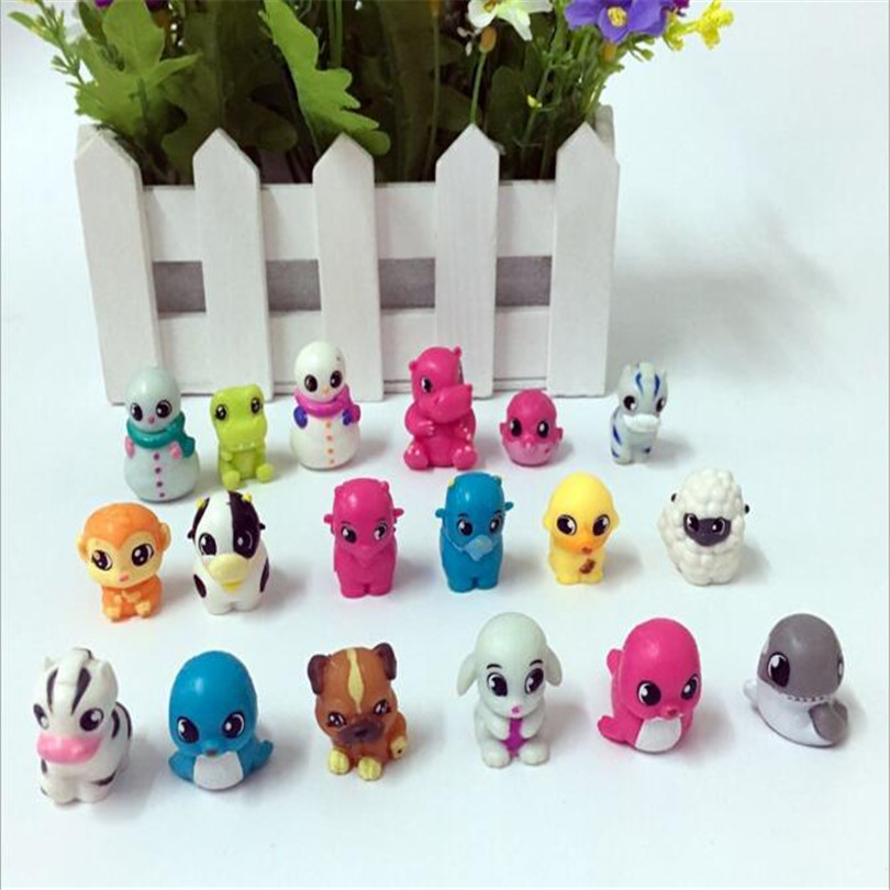 2017 new arrival 10 pcs set cartoon animal action small for Decoration action