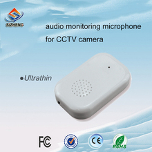 SIZHENG SIZ-140 mini-listening-device cctv audio microphone sound monitor pickup head for surveillance cameras 6 12v audio pickup recording surveillance sound monitor for cctv camera mic
