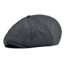 e954750067941 Navy Blue Tweed Twill Wool Newsboy Cap Men Beret Women 8 Panel Country Baker  Boy Hats