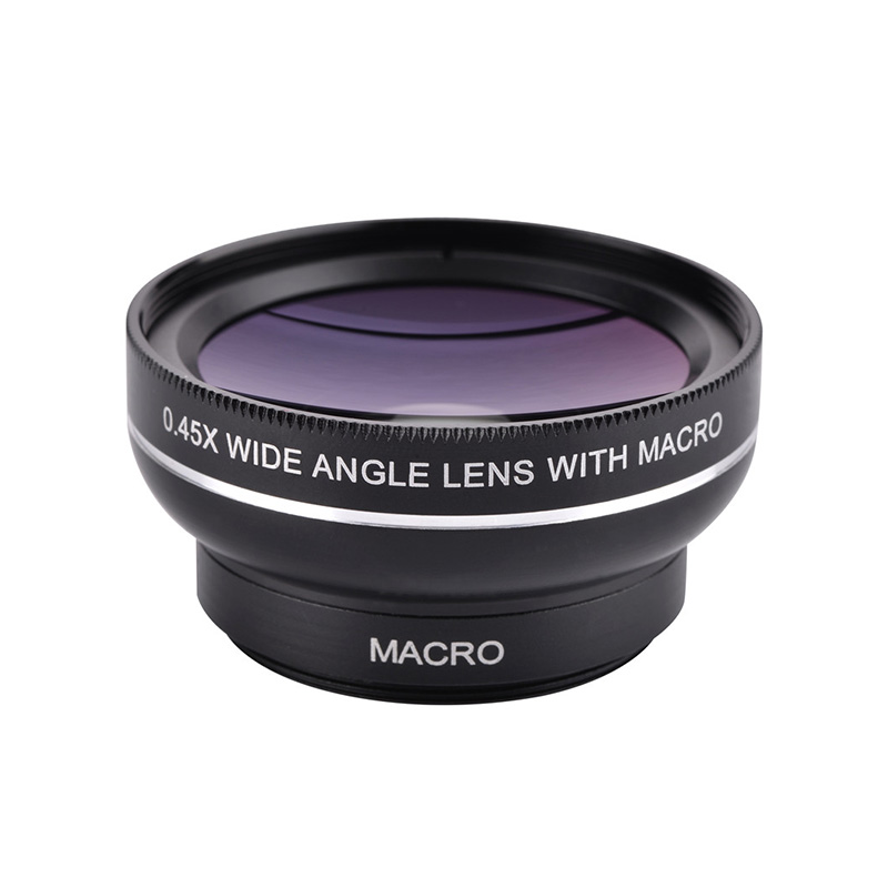 37mm 0.45X Super Wide Angle Lens 12.5X Macro Lens Clip For iPhone Xiaomi Samsung Cell Phone Lens 2 in 1 Camera Lens Kit 10