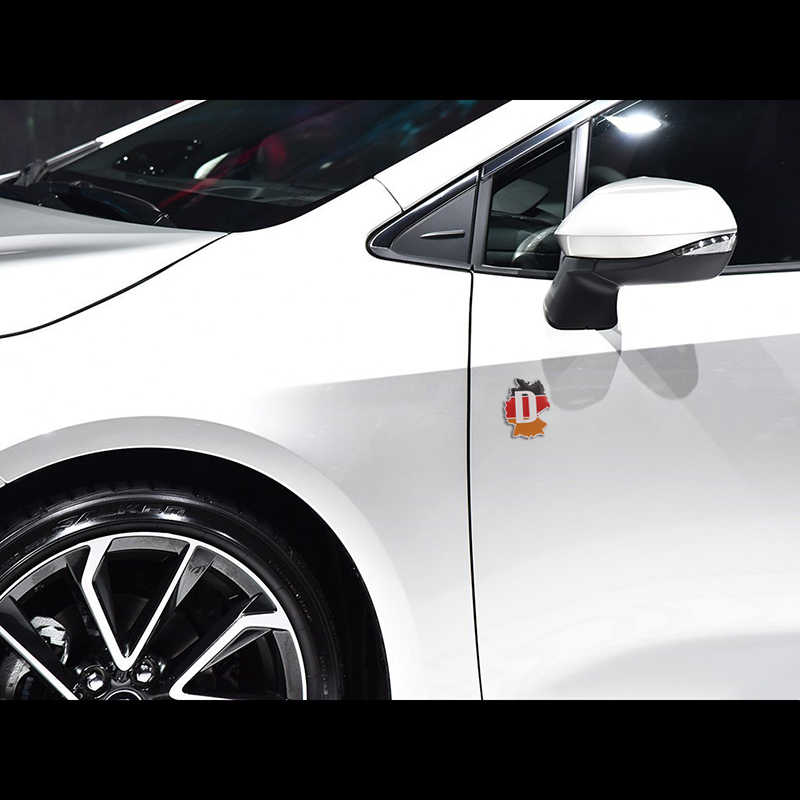 1 sztuk Metal 3D niemcy flaga niemiecka odznaka godło Deutsch samochodów naklejka naklejka kratka zderzak okno dekoracja ciała dla Benz VW Audi