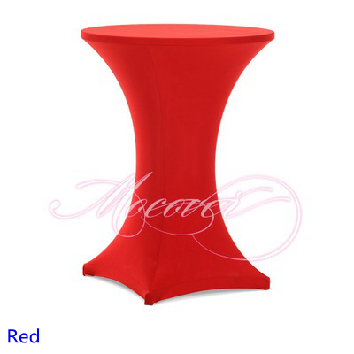 Red colour Spandex table cover cocktail table cloth lycra high bar table cover wedding p ...